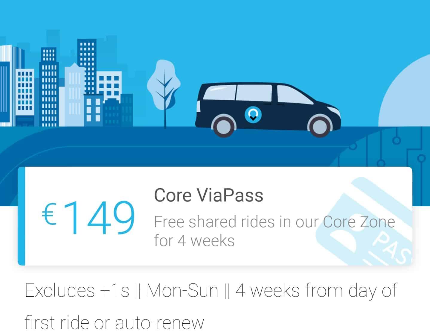 Core ViaPass bundel met 4 gedeelde ritten in de core per week