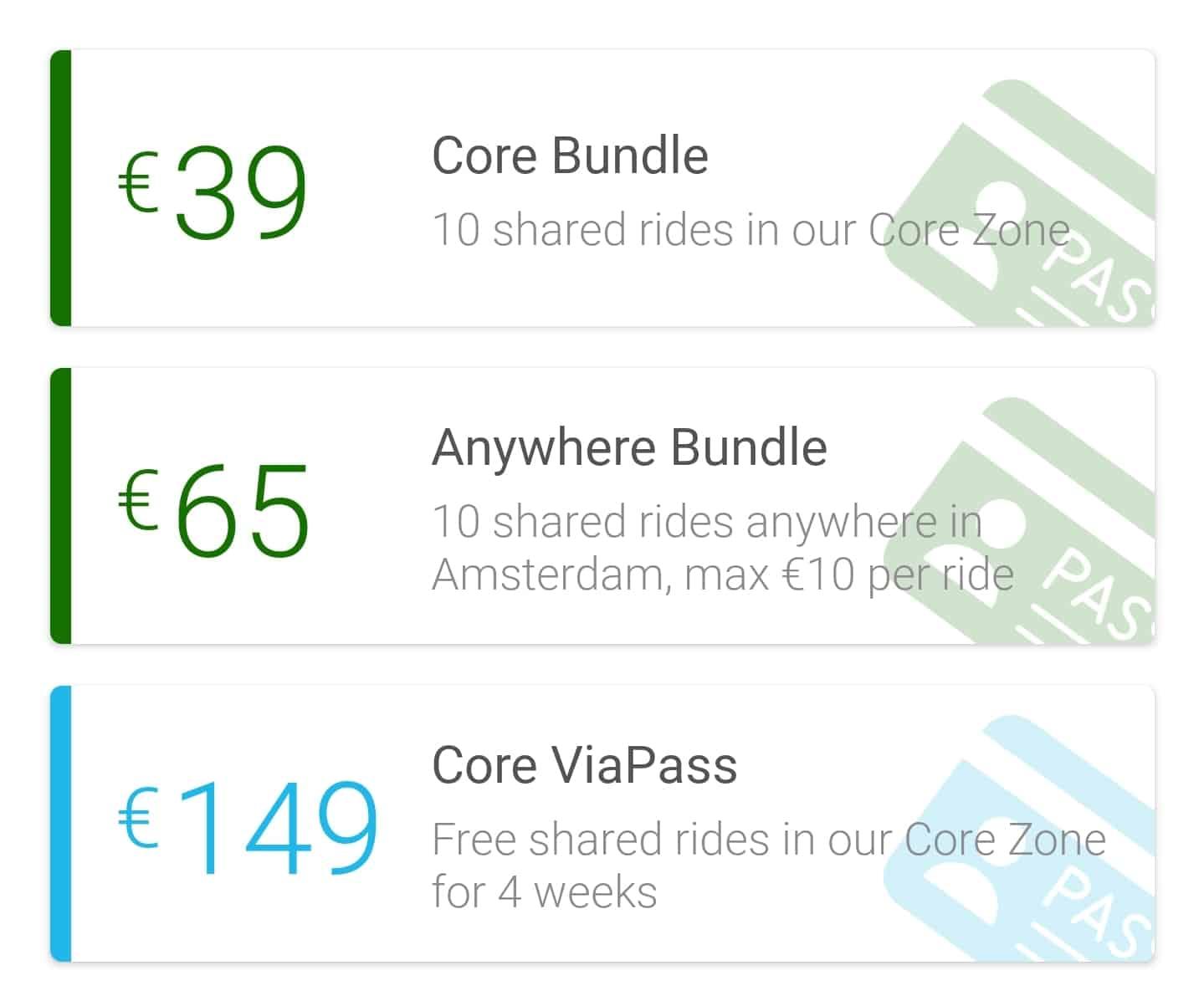 Drie ViaPass bundels om voordeliger met de taxi door Amsterdam te reizen